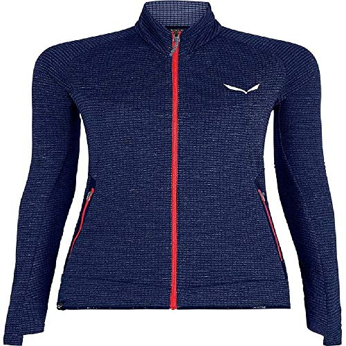 Salewa 00-0000027720_3986 Polaire Femme, Premium Navy Melange/6080, FR : XS (Taille Fabricant : 40/34)