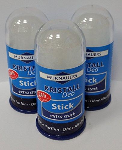 3er Spar-Set: Murnauers Kristall Deo Stick 24h-Schutz, extra stark,