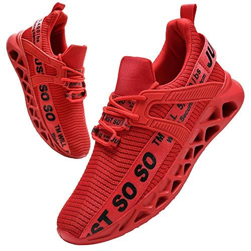 BUBUDENG Uomo Sneakers Scarpe Ginnastica Scarpe Ginnastica Running Trekking Palestra Uomo Sportive Offerta da Corsa Lavoro Moda Sneakers Walking Casual Running Shoes Gym Sport Tennis Shoes Rosso EU45