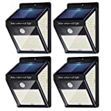 Solar Outdoor Light 140 Led Motion Sensor Solar Powered Light with 3 Working Modes, IP 65 Waterproof Wireless Wall Lights Outdoor for Front Door,Yard,Fence,Patio, Garden (4-Pack)