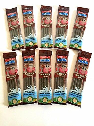 Milkshake Powder Dr Moo Latte Cioccolato veloce 10 x pacchetti (50 cannucce)