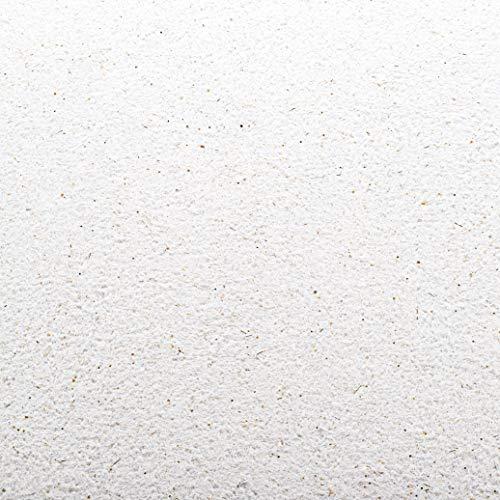 Baumwollputz Schneeweiß mit verschiedenen Gold- und Silberglimmern - Flüssigtapete aus weißer Baumwolle und Effektmaterialien für ca. 4m²