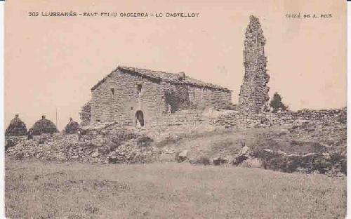 Postal Antigua - Old Post Card : LLUSSANES - Sant Feliu Sasserra - Lo Castellot.