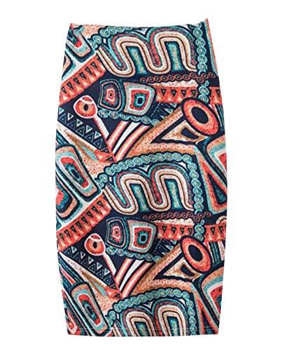 Falda con Estampado De Temperamento Bolso De Verano para Mujer Falda A La Cadera Falda De Un Solo Paso
