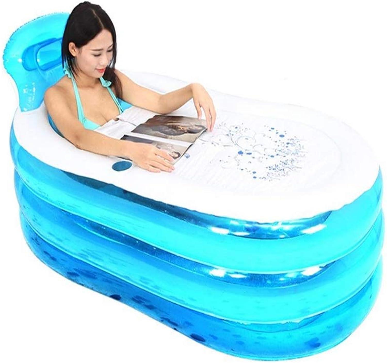 Liuhoue Adult Inflatable Folding Bathtub Thickening Household Bath Tub