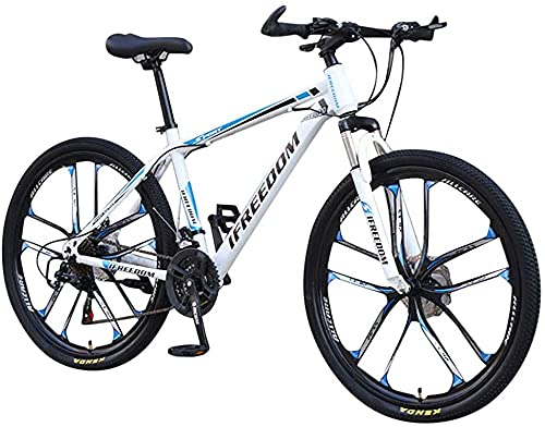 XBSXP Bicicleta de montaña de 26 Pulgadas y 21 velocidades Bicicleta para Estudiantes Adultos al Aire Libre Bicicletas de montaña rígidas Ciclismo Bicicletas de Carretera Bicicletas de e