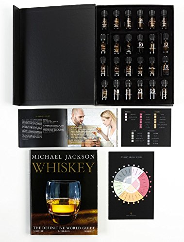 Whisky Aroma Kit. 24 Aromas. NEW and MOST complete! Aromas are mapped to whisky's five taste classifications:Floral, Fruity, Woodsy, Grain & Phenolic. Includes Whisky Aroma Wheel. 10 year guarantee.