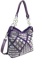 Purple Geometric Gem Sparkle Purse
