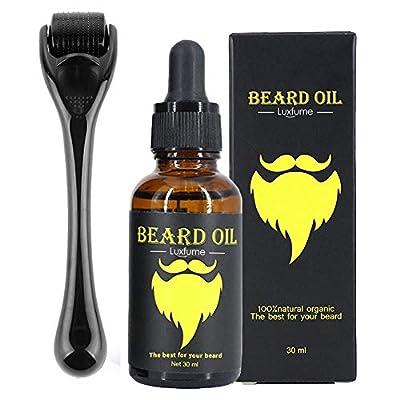 Beard Growth Kit, OCHILIMA Beard Derma Roller 0.3mm Derma Roller/Beard Oil for Facial Hair Growth for Men Dad- Grooming Tool to Help You Grow a Beard - Facilitate New and Old Hair Growth by Ochilima
