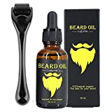 Beard Growth Kit, OCHILIMA Beard Derma Roller 0.5mm Derma Roller/Beard Oil for Facial Hair Growth for Men Dad- Grooming Tool to Help You Grow a Beard - Facilitate New and Old Hair Growth