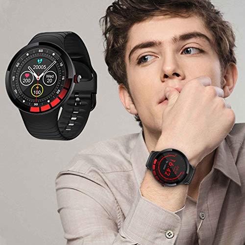 XQTEI Reloj Inteligente de Moda IPS HD Pantalla Bluetooth Frecuencia cardíaca Presión Arterial Detección del sueño Correa de Silicona IP68 Reloj Deportivo Impermeable