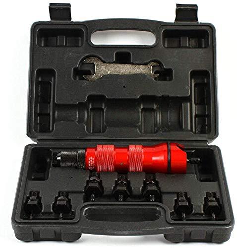 2,4–6,4 mm Profi-Nietadapter Nieten Aufsatz Nietaufsatz Nietgerät Akkuschrauber Nietmuttern-Aufsatz, professioneller Nieten-Adapter, Nieten-Aufsatz, Nietwerkzeug, Akkuschrauber