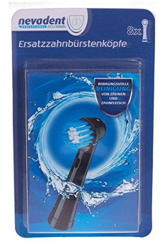 Nevadent® Ersatzzahnbürstenköpfe DAZK 8 B1 Schwarz