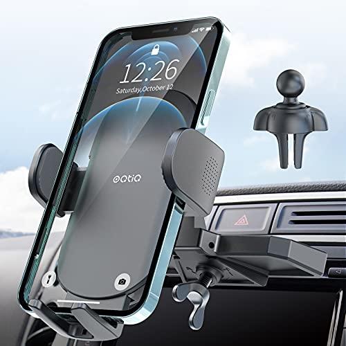 Soporte de teléfono para CD ultra estable, OQTIQ más reciente ranura para CD y ventilación de aire universal para reproductor de CD de coche, compatible con iPhone 12, Samsung Galaxy LG y más