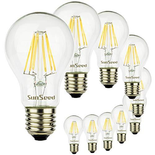 SunSeed® 10x gloeidraad LED klassieke lamp E27 8W vervangt 75W neutraal wit 4000K