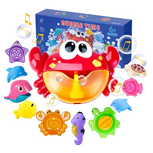 Joyjoz Juguetes De Baño Cangrejo Bubble Toys Bath Squirters Toys Stacking...
