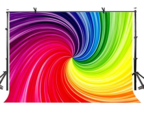 LYLYCTY 7X5ft Artistic Art Backdrop Rainbow Spiral Gradient Color Art Photography Backdrop Abstract Art Studio Photography Background Props BG632