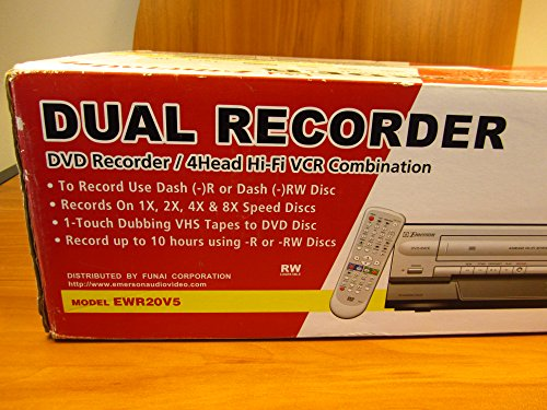 Best Deals! Limited qty Emerson EWR20V5 DVD Recorder/VCR Combo