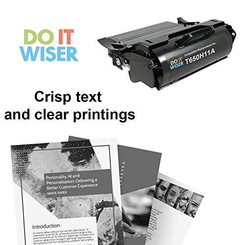 Do it Wiser Remanufactured Toner Cartridge Replacement for Lexmark T650H11A T650 T652 T650DN T650N T652DN T652N T654DN - 25,000 Pages High Yield Photo #5