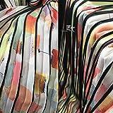 Telas por Metros Para Vestidos- Tejido De Gasa Con Estampado Artístico Plisado Y Diseño De Patrón De Teñido, Plisado Artístico (Precio De 0,5 Cm)