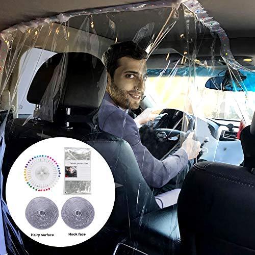 JANYUN Car Isolation Film Taxi Driver Transparent Protective Cover Safe Driver Isolation Film 1.4x1.8M