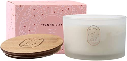 Distillery Tranquillity Vanilla Dream Soy Candle 450 g, 450 grams