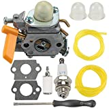 Powtol 308054043 Carburetor fits Ryobi RY28000 RY28020 CS26 RY28040 SS26 RY09053 RY28021 RY28025 RY28045 RY09056 RY09055 26CC Trimmer Brushcutter