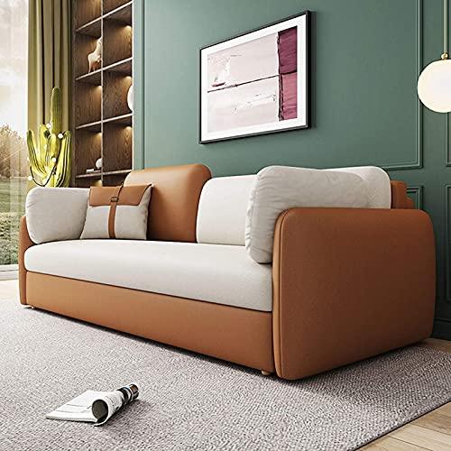 Sofá Cama Convertible,Multifunción Sofá Cama Futón Plegable con Caja De Almacenamiento Mejorada Y Diseño De Reposabrazos para Muebles De Sala, Resistente,180CM