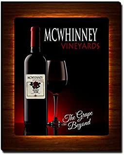 ZuWEE Wine Themed Canvas Print Personalized with The Mcwhinney Family Name