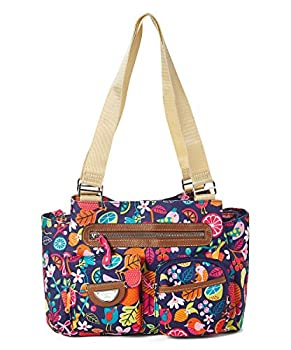 Lily Bloom Remi Triple Section Satchel Blossoming Bees  Fruit Loop Birds