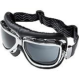 Hellfire Schutzbrille, Helmbrille Motorradhelm Chopperbrille 1.0 grau, Unisex, Casual/Fashion,...