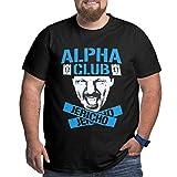 Photo de Men's Plus Size T-Shirt Jericho Alpha Club Crewneck Short Sleeves Classic Printed Black Tops,Black,XX-Large par