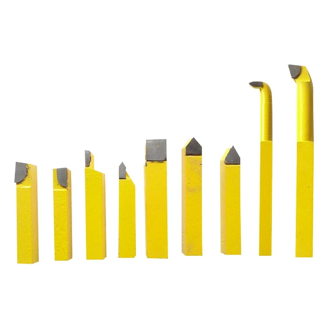 アラブマーキング会議フェリモア 小型旋盤 切削 バイト 鉄用 ミニサイズ ロウ付き 刃付きバイト 金属加工 使い分け (2点セット)