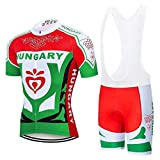 Crossrider - Country Jerseys - Love Your Country! Cycling Jerseys & Sets Collection - Team Hungary Colorful Men's Cycling Jersey & Shorts Set - Jersey & Bib Short Set - S - Green