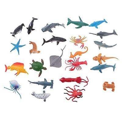 MagiDeal 8/12/24pcs Modèle Animal Figurine PVC Jouet d'éveil Jeu éducatif Cadeau pour Enfant