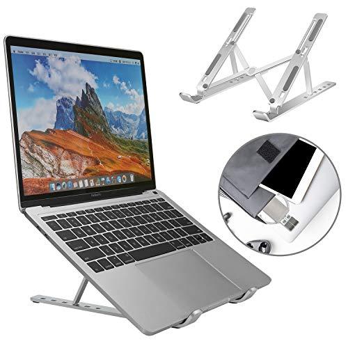 Adjustable Laptop Stand, Foldable Portable Laptop Riser, Lightweight Desktop Ergonomic Laptop Tray for Laptop (10''-17'') include MacBook Pro/Air, Lenovo, HP, Dell, HUAWEI MateBook, Samsung, Acer