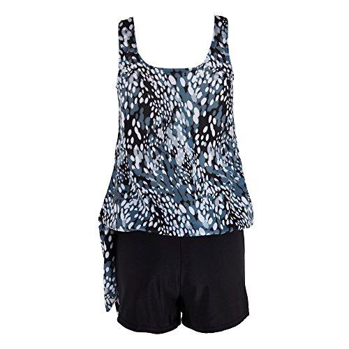 Brizz Dames Tankini Sets met jongensshorts Badkleding Tweedelig badpak groot formaat badpak bovendeel zwembroek voor zee, strand, zwembad, warme bron, vakantiesreizen