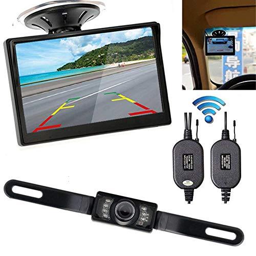 Calistouk Kit caméra de recul pour voiture avec écran 4,3\