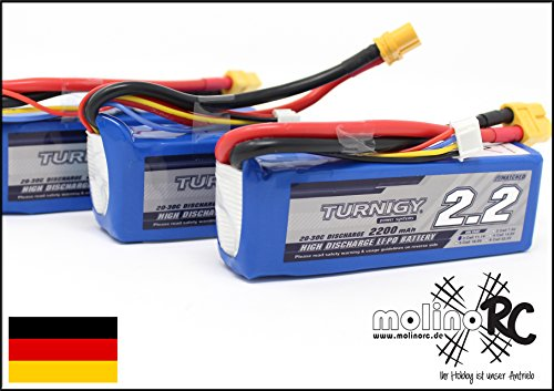 molinoRC 3 x Turnigy LiPo-Pack 3S 11,1V 2200mAh 20-30C **** 3X Akkus jetzt aus BRD