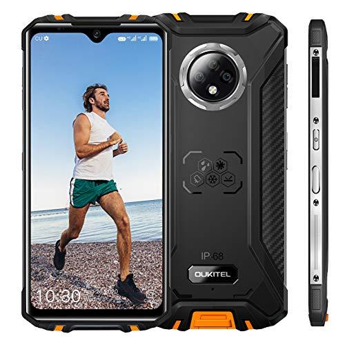 OUKITEL WP8 Pro 超薄型ボディアウトドア スマートフォン、Android 10 IP68/IP69Kスマホ本体、6.3インチFHD +携帯電話、防水 防塵 耐衝撃、4GB + 64GB、5000mAhデュアルSIMフリースマートフォン、16MPトリプルリアカメラ、NFCサポート、指紋認識 顔認証 防災用品 ゲーミングスマホ 1年間保証付き (orange)