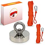 Danielwpro – Kit de imanes de pesca, este imán de pesca incluye dos cuerdas de nailon s...