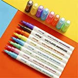 SAFE MATERIALS: Nontoxic, acid-free, xylene-free, environmental friendly and safe for both children and adults. PACKAGE CONTENTS: 8pcs different colors Double Line Pens. Black, Green, Sky Blue, Light Blue, Purple, Orange, Yellow and Pink. Durable fib...