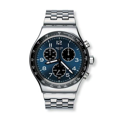 Swatch Irony YVS423G - Reloj de cuarzo suizo de acero inoxidable para hombre