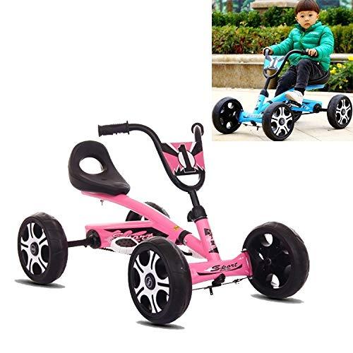 Juguetes de Bebe LJR PIET Pedal GO Kart KARD Kids Ride EN EL Juguete DE Coche 4 Ruedas Bicicleta Push BICICLE (Color : Rosado)