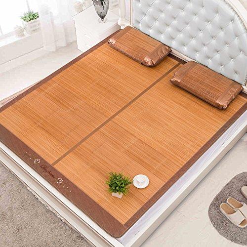 WENZHE Bambus Matratzen Sommer-Schlafmatten Strohmatte Teppiche Carbonisierungsprozess Zusammenklappbar Doppelseitige Verwendung Zuhause, 8 Größen (größe : 0.9×1.9m)