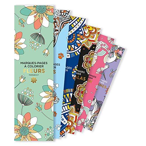 Marque-Pages à colorier - Fleurs