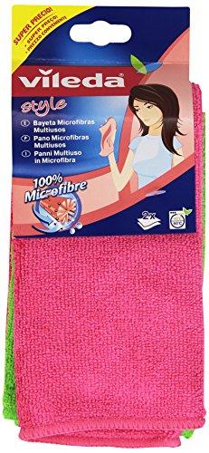 Vileda - Panni, Multiuso in Microfibra - 2 pezzi