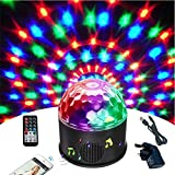 Wonsung - Palla da discoteca Bluetooth a 9 colori, per feste a specchio, proiettore, luci stroboscopiche, luci da discoteca, mini luci a forma di palla magica