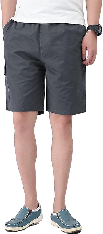 Men's Plus Size Casual Shorts Solid Color Simple Multi-Pocket Streetwear