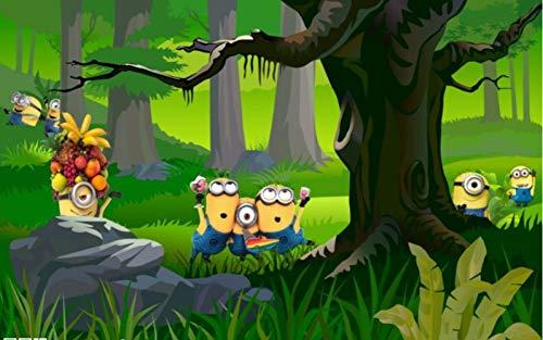 Minions Bananas Wallpaper 3d-cartoon-film-wandbild Fototapete Anpassen Raumdekoration Kinderzimmer Tv-wand Despicable Me